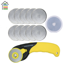 AUTOTOOLHOME 10PC 45mm Refill Blades Rotary Cutter Case Premium Quilters Quilting Fabric Cutting Craft for OLFA Sewing Tool