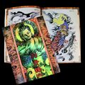 Popular Tattoo Book Chinese Traditional Auspicious Patterns Ghost Skull KOI Cat Flower Kirin Tattoo Flash Book  Free Shipping