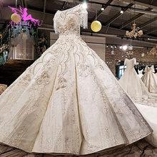 AIJINGYU Liefert Hochzeit Hochzeit Plain Modernen engagement Viktorianischen Verkauf Langarm Kleid Spitze Braut Kleid Speichert