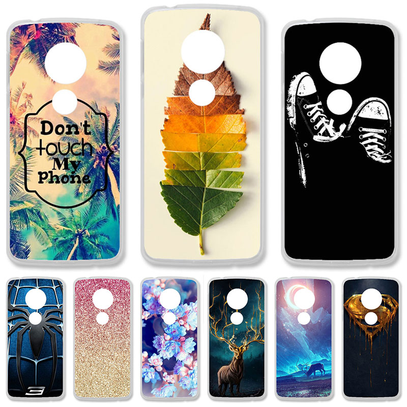 TAOYUNXI Soft TPU Case For Motorola Moto G6 Play Cases For Moto E5 Moto E (5th Gen.) 5.7 inch DIY Painted Protective Covers