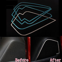 Chrome Door Speaker Audio Sound Trim Cover Frame Overlays Interior Car Styling Accessories For Chevrolet Chevy