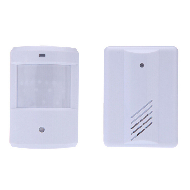 Wireless Motion Doorbell Infrared Monitor Sensor Detector Entry Door Bell 1 Detector and 1 Receiver new restaurant equipment wireless buzzer calling system 25pcs table bell with 4 waiter pager receiver