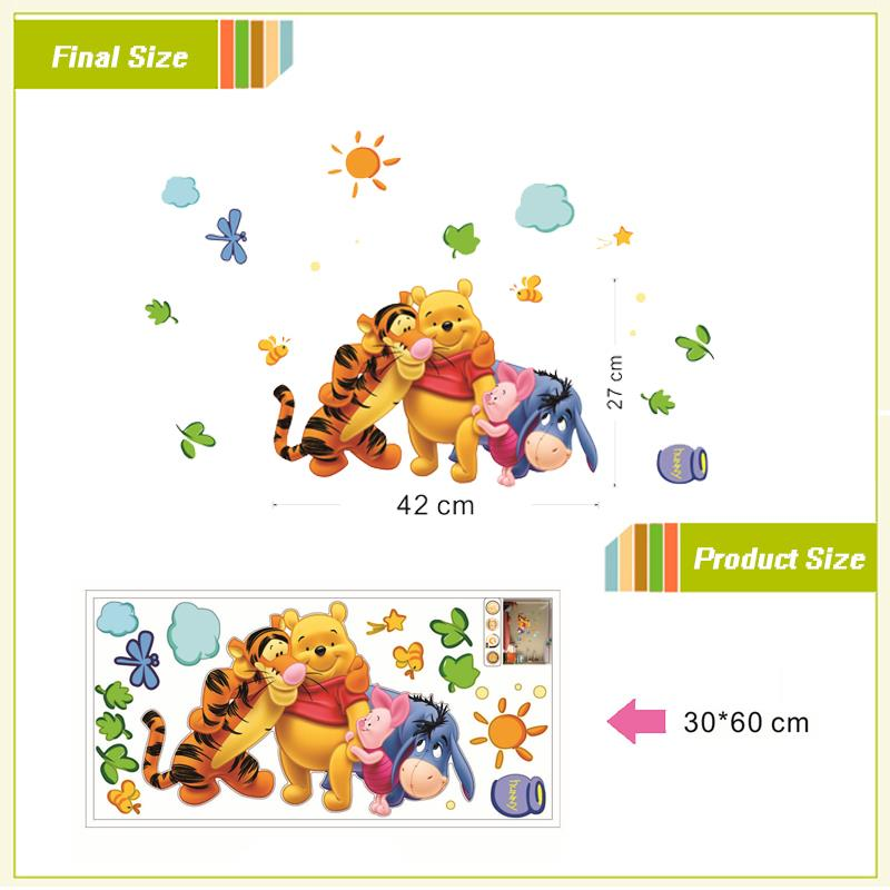 HTB1Ym7SIVXXXXbqXVXXq6xXFXXX9 friends with winie pooh wall stickers for kids room decorations 2006. diy pvc animals movie home decals 3d mural art posters 4.0