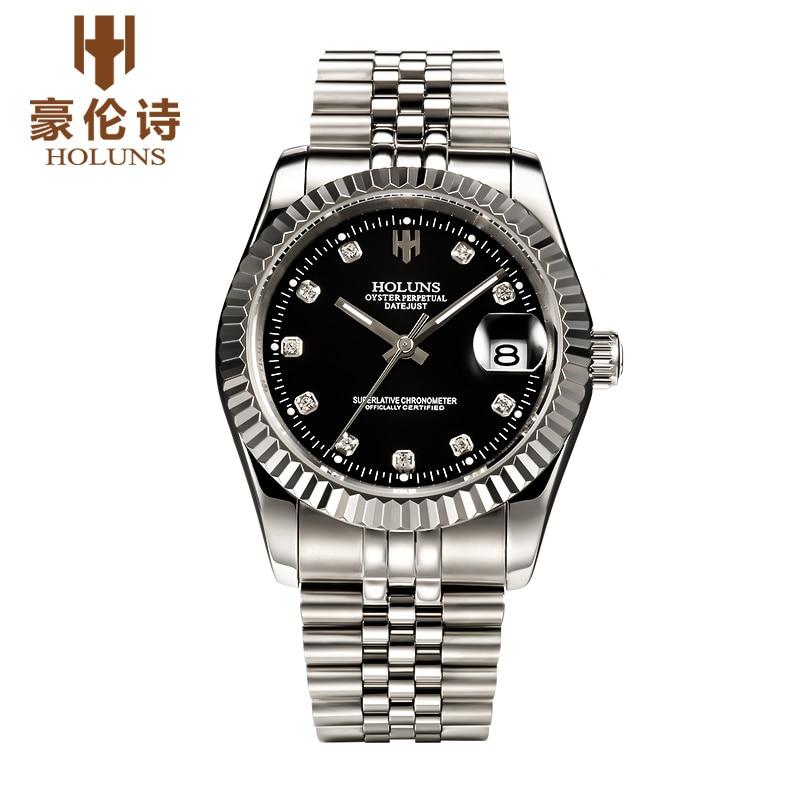 ФОТО HOLUNS R005 Watch Geneva Brand oyster perpetual datejust series men's luxury automatic mechanical 116243 relogio masculino