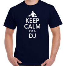 Keep Calm I'm A DJ - Mens Funny T-Shirt Harajuku Tops Fashion Classic Unique t-Shirt gift free shipping цены