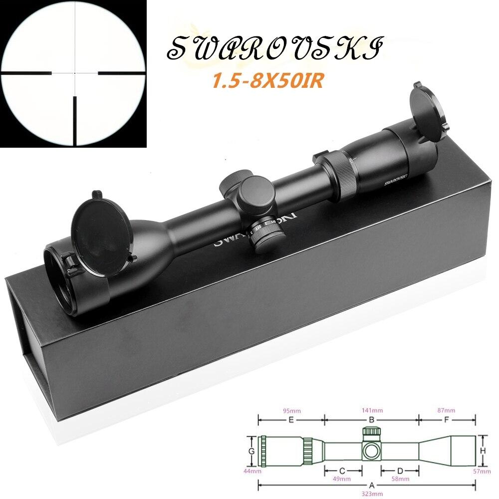 Imitatie Swarovskl 1.5-8x50 IRZ3 Richtkijkers F15 Red Dot Richtkruis Hunting Riflescope rifle scope optische zicht jacht scopes