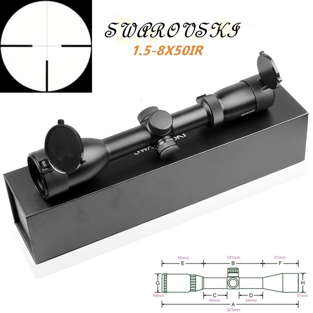 Imitation Swarovskl 1.5-8x50 IRZ3 Rifle Scopes F15 Red Dot Reticle Hunting Riflescope Rifle Scope Optical Sight Hunting Scopes
