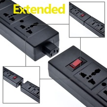 4 ways Power supply Strip Overload Protector,PDU with safety Shutter Universal Outlet extend IEC320 C13 Outlet,Holder