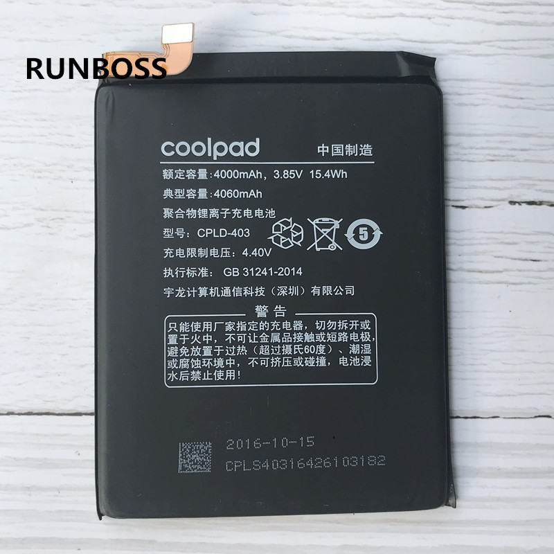 Original Hohe Qualität CPLD-403 4100 mah Batterie Für Letv LeEco Coolpad Cool1 Kühlen 1 Dual C106 C106-7 C106-9 Handy batterien