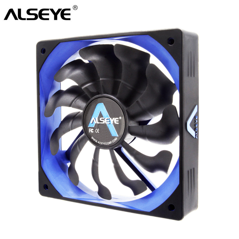 ALSEYE Computer Fan Cooler 120mm PWM 4pin Fan for CPU Cooler / Radiator / PC Case, 12V 500-2000RPM Silent Cooling Fans 2016 new 80mm 2 pin connector cooling fan for computer case cpu cooler radiator