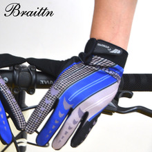 BRAITTN Free shipping new men s outdoor long finger font b gloves b font sunscreen slip