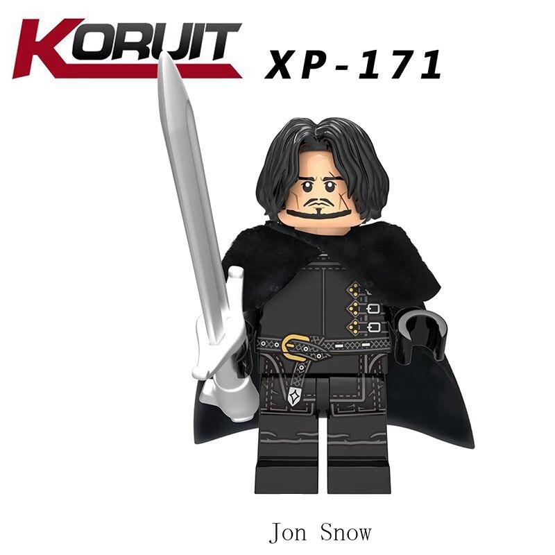 New LegoINGlys Game Of Thrones Figure Jon Snow White Walke Wights Benjen Stark Wights Bricks Building Blocks Toys For Children