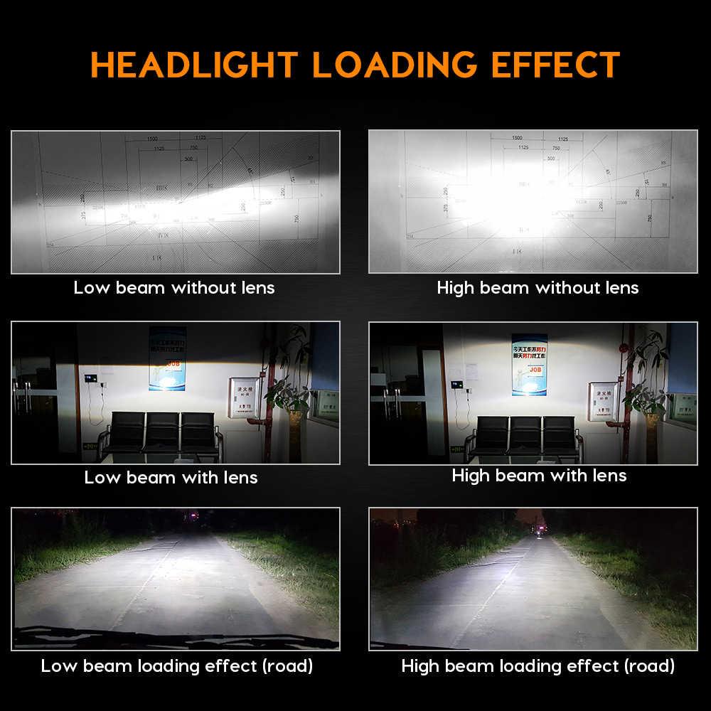 Zdatt 12V 4Sides H4 H7 LED Headlights H11 H8 9005 HB3 9006 100W 12000Lm Canbus Bulb Light 3000K 6000K 8000K 24V CSP Auto Lamp