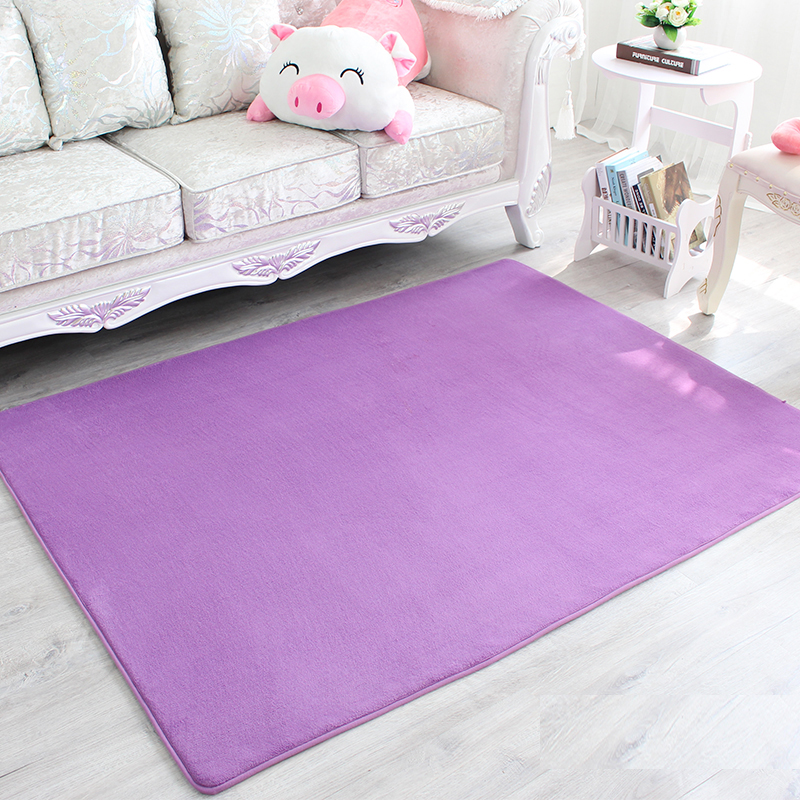 Coral Plush Mats Kids Play Mat Bedroom Rugs Mats Carpet