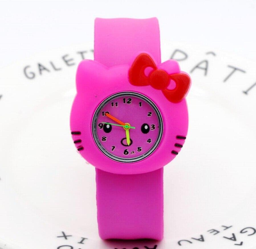 Мода мультфильм кварцевые часы Wristatch повседневная одежда hello kitty горный хрусталь часы ladies Девушки Дети Высокое качество пощечину