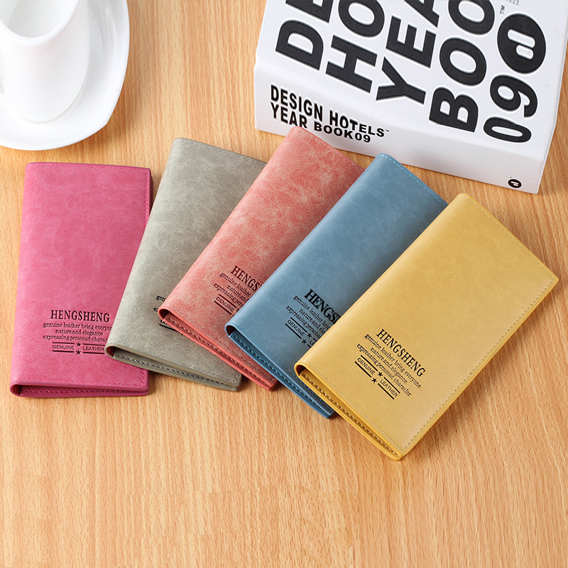 bolsa para mulheres venda de Leather Wallet Color : Blue, pink, gray, red, yellow, coffee