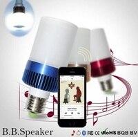 LED Light Bulb Bluetooth 4.0 Speaker E27 warm white Base Music Lamp Player 400 460 LM Bedroom Light Blubs