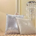 Waist Cushion Cover Throw Pillow Case 43x43cm bling Sequins Solid Christmas decoration for home New Year