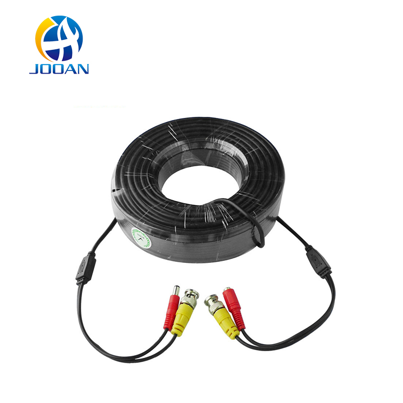 JOOAN BNC Cable 30M Power Video Plug And Play Camera Connector Bnc Cable Power Camera Cable Bnc For CCTV Camera System Cable solder type bnc plug for surveillance camera cable