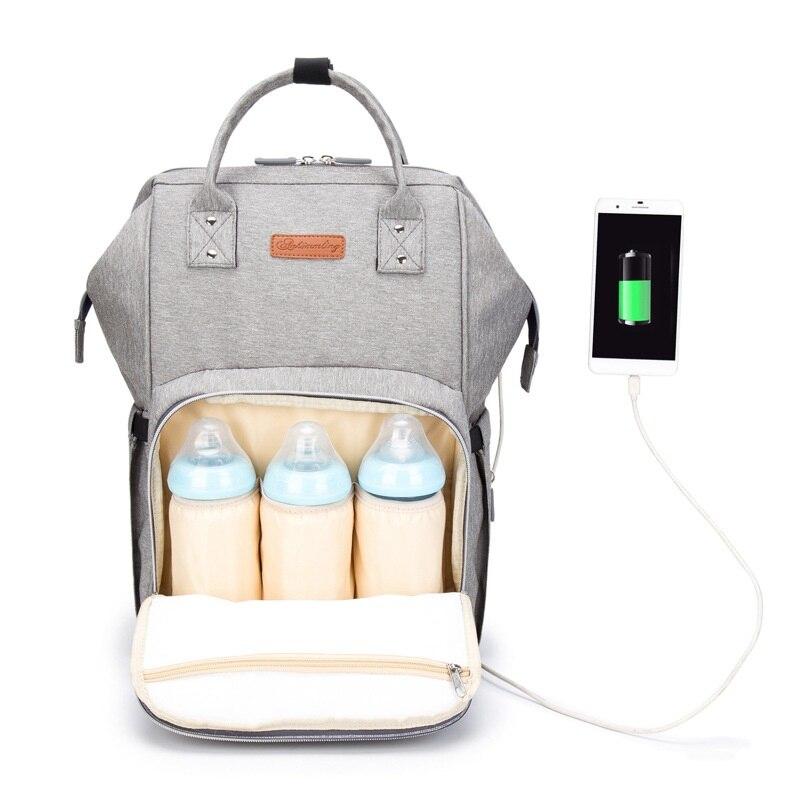 Sac à dos antivol avec sac USB imperméable Mochila Feminina momie maternité Rugzak sacs de voyage sacs d'allaitement Plecak-in Sacs à dos from Baggages et sacs    1