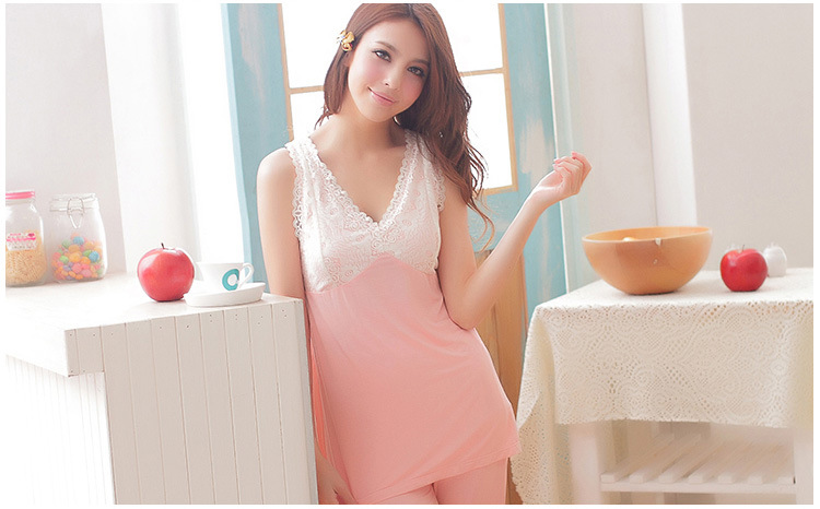 Free Shippingoriginal Top Quality Soft Womens Sexy,Girls Lace Sleeping Clothes -7041