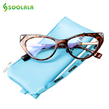 SOOLALA Cat Eye Blue Light Blocking Glasses Women Protection Anti Fatigue Glare UV Computer