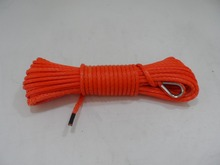 orange 5mm*15m atv/utv winch line,winch cable for offroad parts,winch rope,kevlar rope
