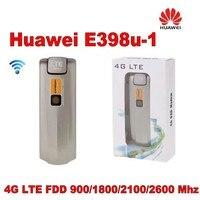 Открыл Huawei E398 E398u 1 Cat3 100 Мбит/с 4 г LTE FDD 900/1800/2100/2600 мГц Беспроводной модем плюс 2 шт. антенны мобильного широкополосного доступа