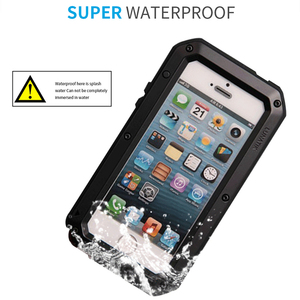 Image 4 - Heavy Duty Protection Case for iPhone 7 6 6s Plus 5 5s SE Cover Metal Aluminum Shockproof Armor Phone Cases + Glass Screen Film