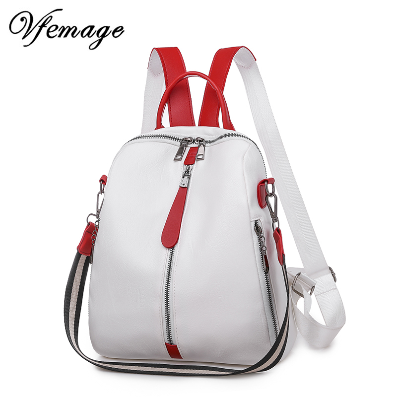 Fashion Shoulder Bags For Women Backpacks Female Small Leather Backpack Girls Schoolbag Mutifunction Bagpack Women Back Pack Sac