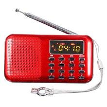 Mini LCD Digital FM Radio USB TF / Micro SD Card 16GB MP3 Stereo Music Player Red