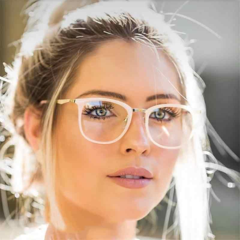Montura De Gafas Cuadradas De Lujo Para Mujer Lentes Transparentes De Miopía De Empollón Gafas De Diseñador Decorativas De Marca Las Mujeres Gafas De Marcos Aliexpress
