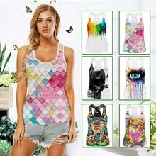 Yoga Vest Sleeveless Printed Slim Quick Drying Gym Yoga Sport Shirt Women font b Fitness b