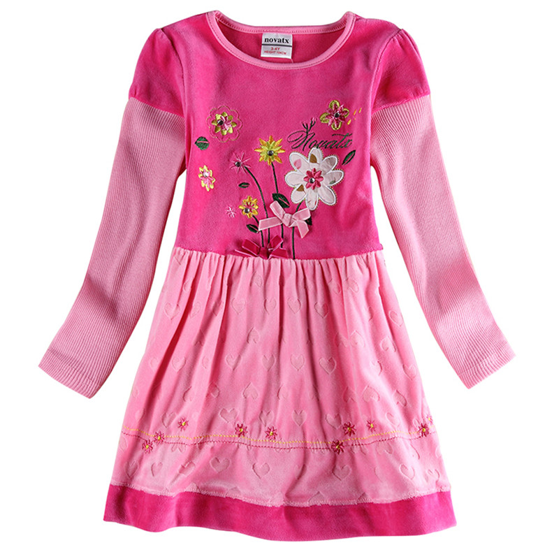 novatx H6689 Baby girl dress girl party princess kids dress for girls clothes fashion nova brand kids clothes cotton baby dress браслеты для прогулки с детьми homsu браслеты для прогулки с детьми