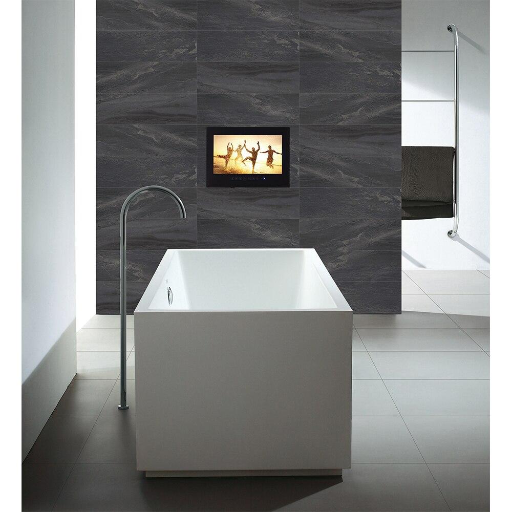 "HTB1Ym9nayHrK1Rjy0Flq6AsaFXam Souria 15.6"" Black Bathroom Waterproof LED Android 9.0 Smart Wi-Fi Shower Hidden TV Monitor Hotel Television"