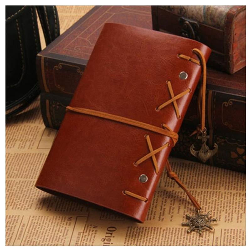 vintage PU leather pirate travel diary book retro spiral notebook notepad stationery office school supplies leather notebook diary loose leaf notebook vintage travel notepad leather notepad customization office school supplies n112