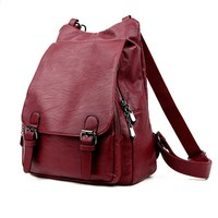 2016 Fashion Women Backpacks Genuine Leather Female Travel Backpack High Quality Women Bag College Wind School
