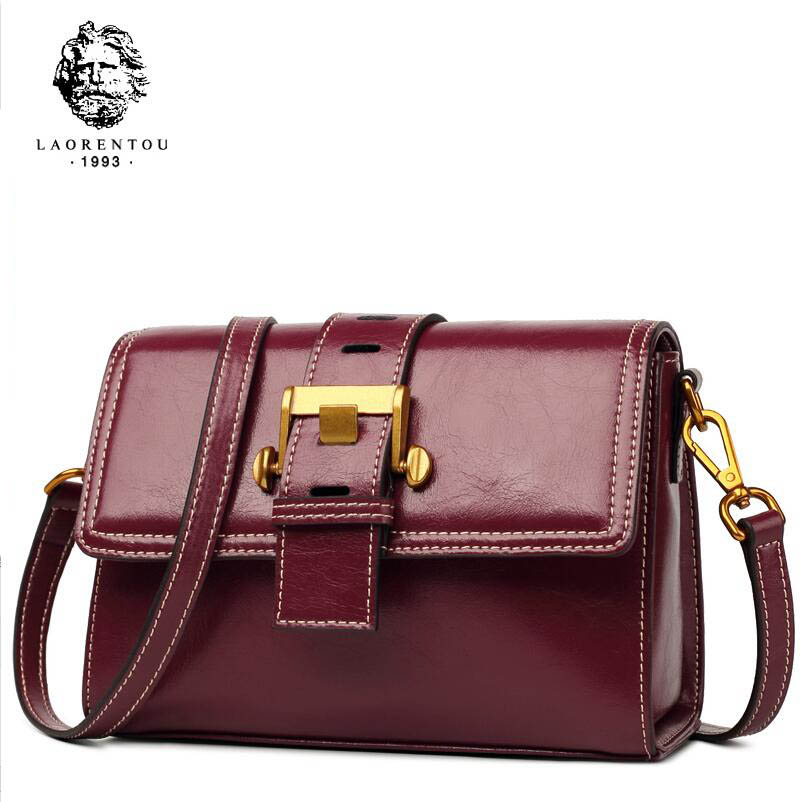 LAORENTOU  2018 new shoulder bag womens leather retro fashion Messenger bag Wild fairy bag femaleLAORENTOU  2018 new shoulder bag womens leather retro fashion Messenger bag Wild fairy bag female