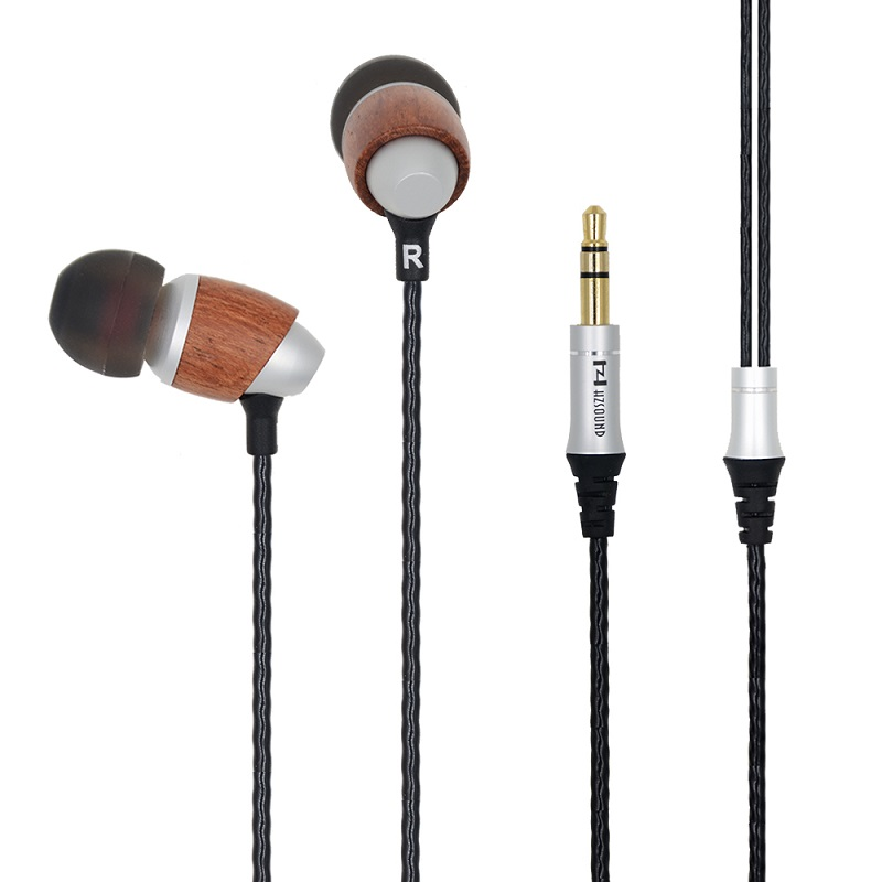 Original HZSOUND M001 Newest Earphones Wooden High Quality Stereo Earphone 8MM Drive Unit Hifi Earphone With Free Shipping