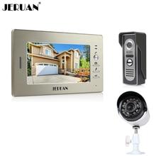 "JERUAN luxury 7"" LCD Video Intercom Door Phone System 1 Monitor 1 700TVL Access Camera + 700TVL Analog Camera+FREE SHIPPING"