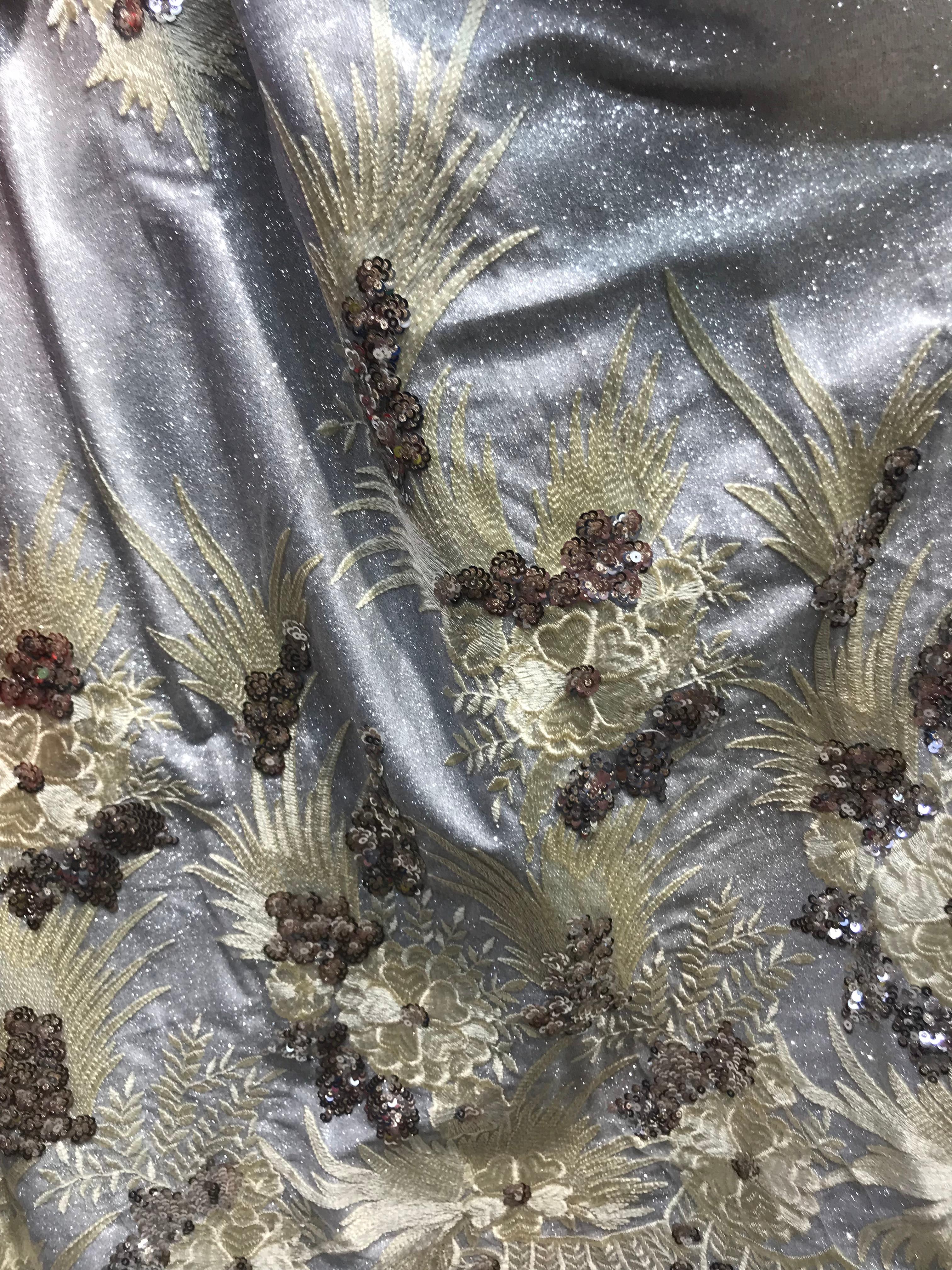 Hermosa tela nigeriana David 6.3427 para vestido de fiesta nueva tela de encaje bordada africana-in encaje from Hogar y Mascotas    3