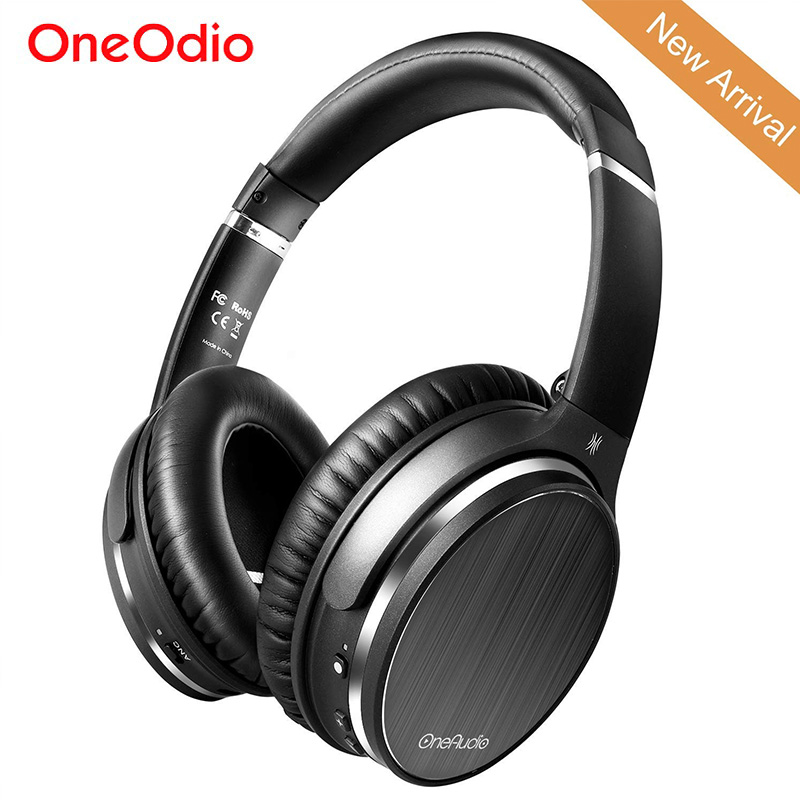Oneodio Active Noise Cancelling Headphones Bluetooth 4.1 Wireless Headset Foldable Over Ear HIFI Stereo Headphone With Mic Music remax wireless music bluetooth headphones headset with hd mic noise cancelling hifi sound 3d stereo bass for music phone