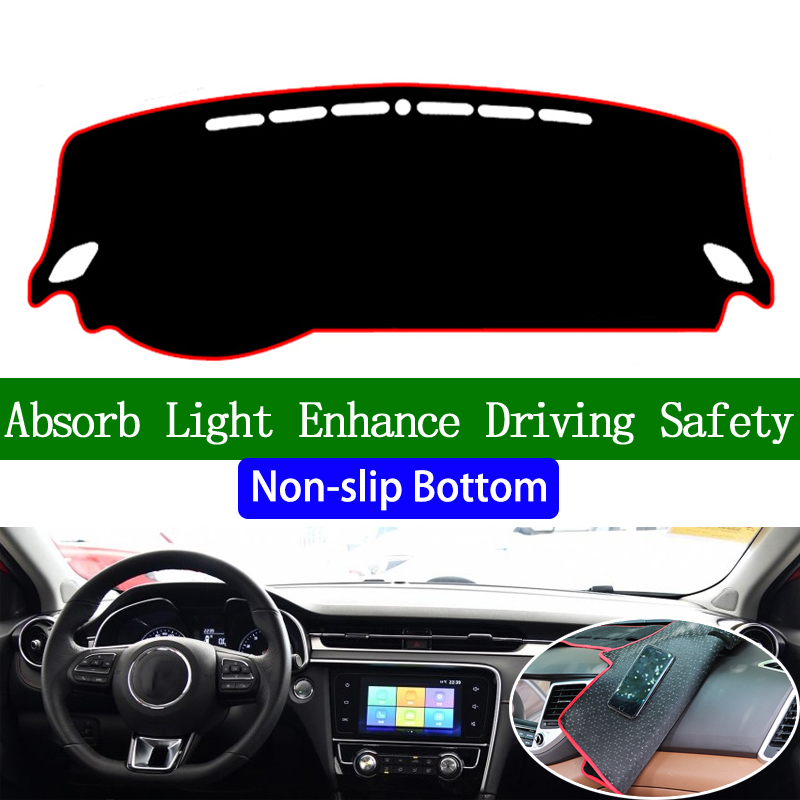 For <font><b>MG6</b></font> EV 2017 2018 <font><b>2019</b></font> Non-slip Bottom Dashboard Cover Car Decals Car Stickers Interior Car Accessories image