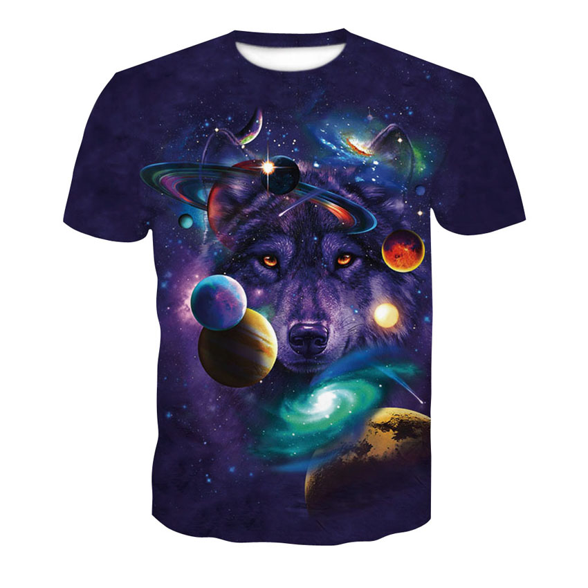 Wolf Head Mens Casual Slim Fit Short Sleeve T-Shirt 100/% Cotton Tee Tops