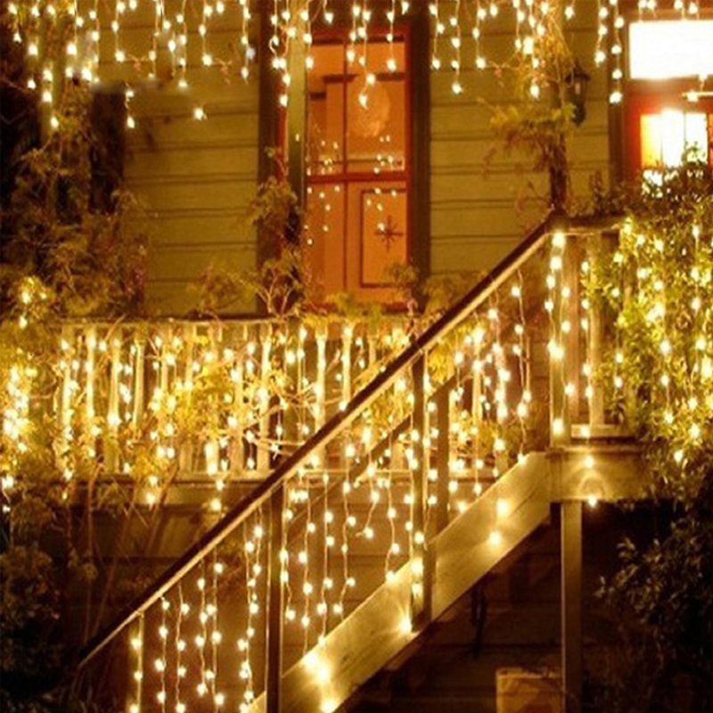 10M 110V LED Christmas Lights Outdoor Warm Fairy Led String Lights for Home Garden US Plug Strings Muti Colors Light Decoration