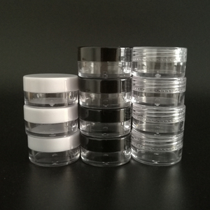 Image 1 - 100 adet 2g 3g 5g Küçük plastik kozmetik krem kavanozu Dudak balsam kabı Tencere Kozmetik ambalajlı kavanoz, plastik Küçük Kavanoz Kozmetik Kutusu