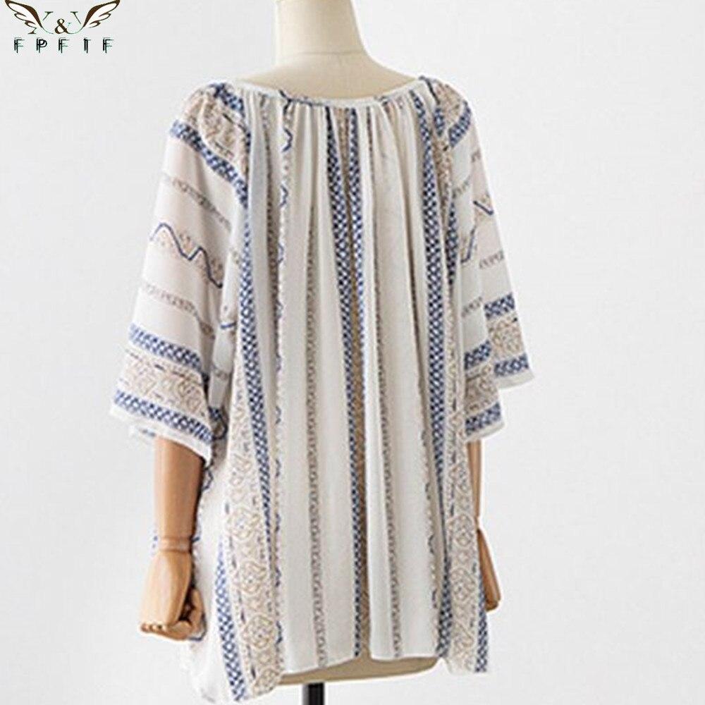 Summer Style Kimono Blouses Top Plus Size Xl 5xl Women Shirts