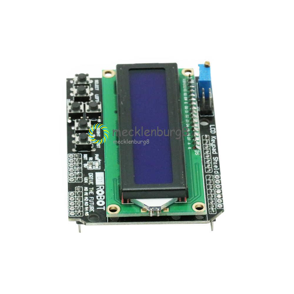 1602 pantalla LCD teclado escudo pantalla LCD 1602 Módulo de pantalla para Arduino ATMEGA328 ATMEGA2560 Raspberry Pi UNO pantalla azul