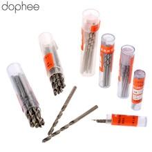цена на dophee 2.0-3.5mm Twist Drill Bits HSS Drill Bit Micro Straight Shank Wood Drilling Electric Woodworking Tools Aluminum 10PCS Hot