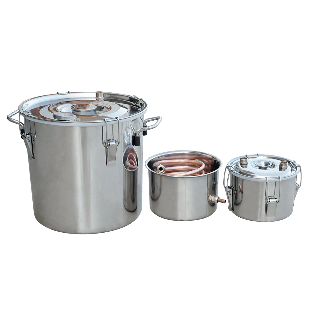 US $170 15 8% OFF|3 Pots 5Gal/20L Alcohol Distiller Moonshine Still Boiler  Stainless Steel Copper-in Pumps from Home Improvement on Aliexpress com |